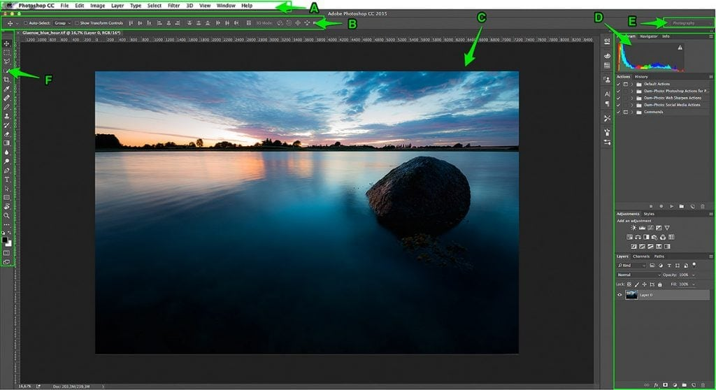 In this guide to Photoshop for Photographers you will get a tour of the graphical user interface in Photoshop