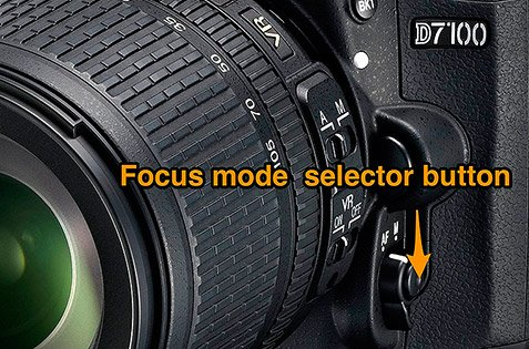 Focus mode selector button