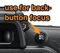 back button focus on dslr camera