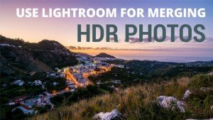 Use Lightroom HDR merge