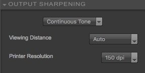 output sharpening - continuous tone settings - Nik Sharpener Pro 3