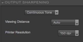 output sharpening - continuous tone settings - Nik Sharpener Pro 3