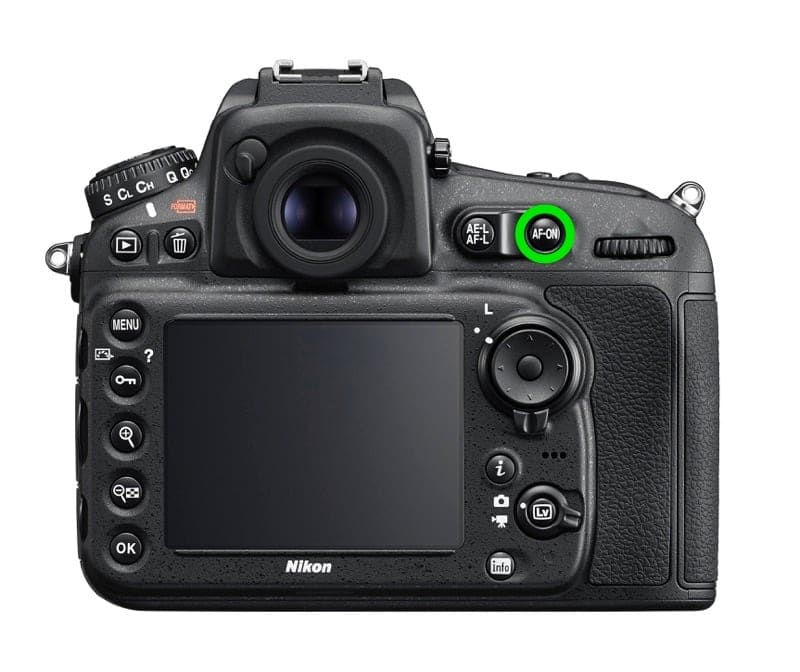 nikon D810 back button focus