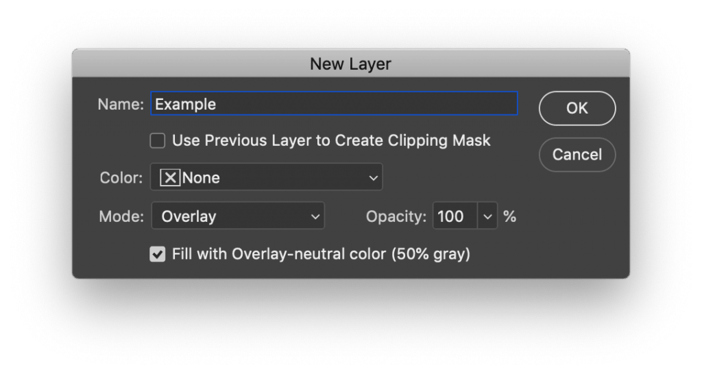 New layer for dodge and burn technique