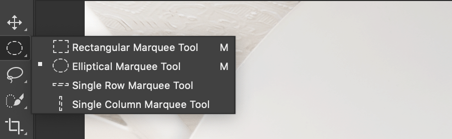 Marquee Tools in Photoshop
