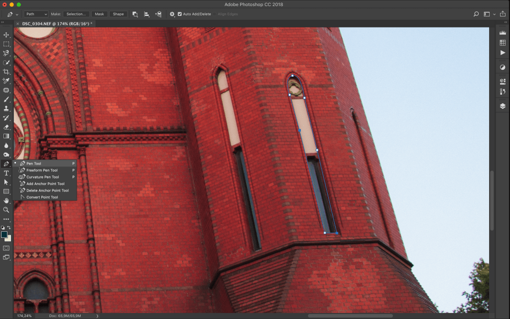 The pen tool is one of the most precise selection tools in Photoshop