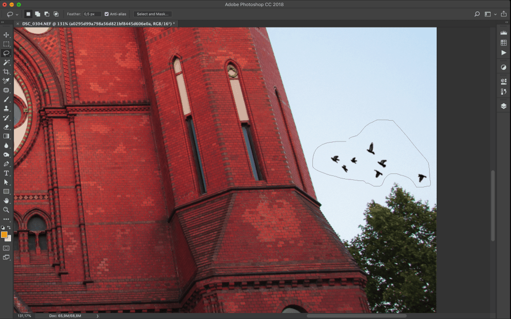 Create selections in Photoshop using the Lasso tool