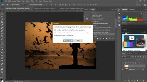 notice box for photoshop watermark action
