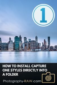 installing capture one styles directly into folder