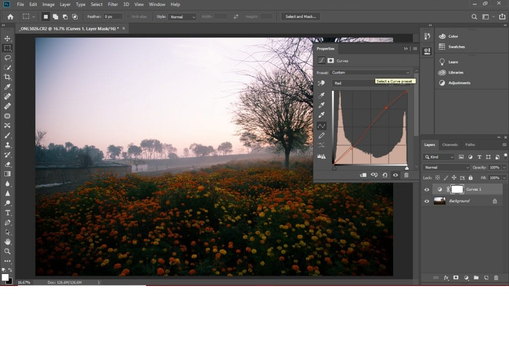 Use level or curves to change colors in Photoshop