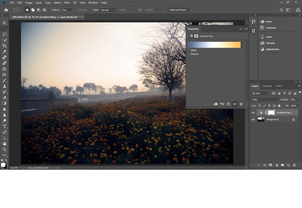 Use gradient tool to change colors in Photoshop