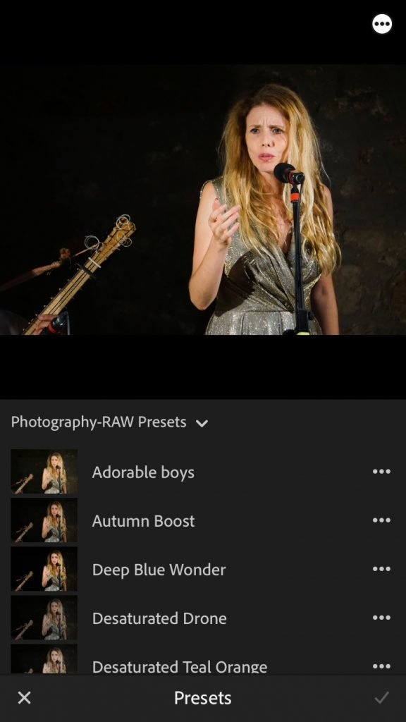 lightroom presets on mobile