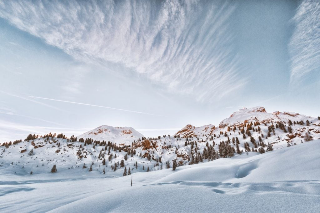 Exposure compensation is almost always necessary for snowscapes.
