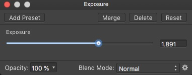 Affinity Photo Exposure Adjustment Layer