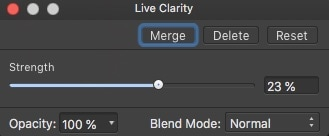 Affinity Photo Clarity Live filter