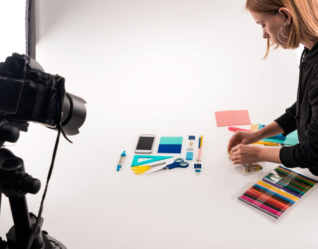 setting up the products in an elegant way is essential in product photography