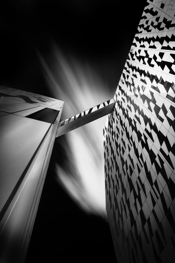 black and white fine art photo using long exposure