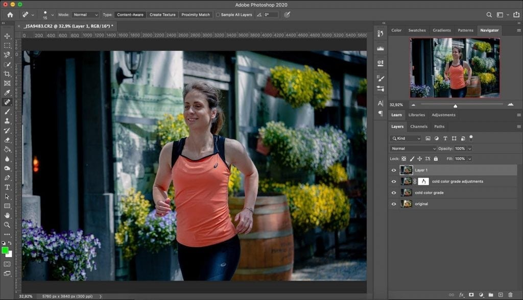 Cool look color grade made in Photoshop