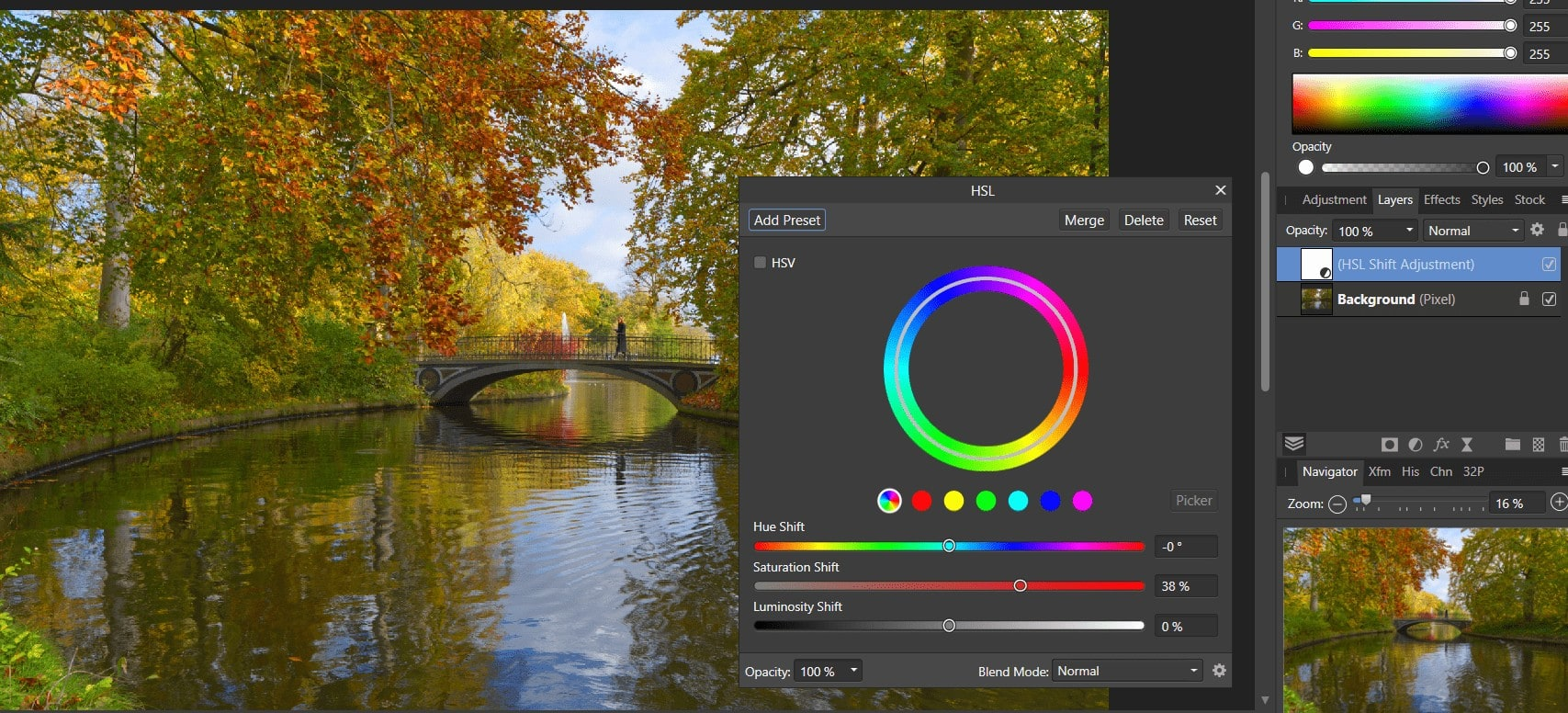 Color correction and Color Grading Using Affinity Photo
