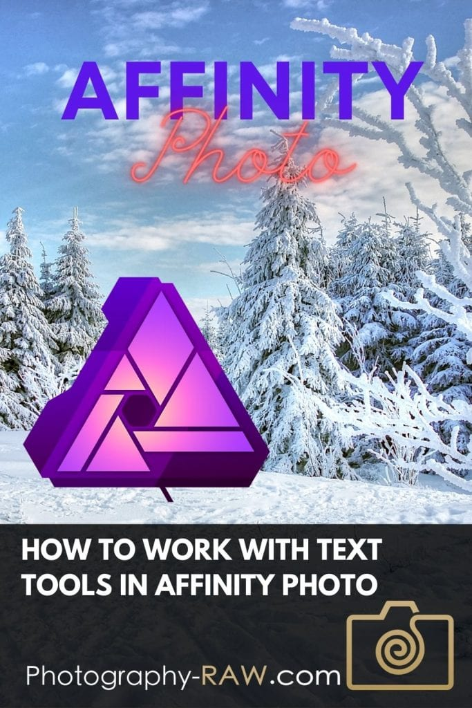 How to Work With Text Tools in Affinity Photo