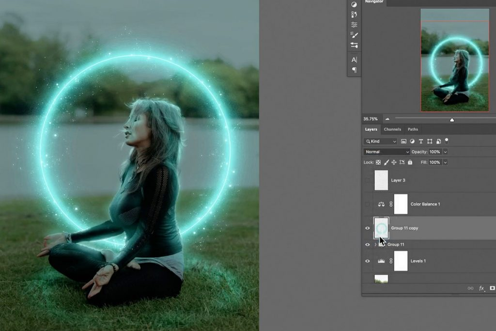 Add glow effect using layer duplication in photoshop