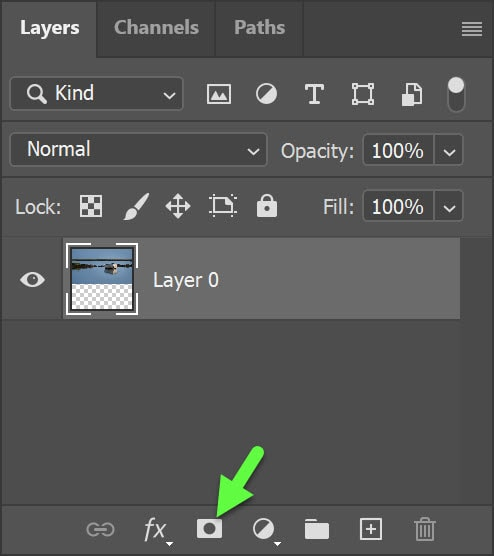 Add layer mask icon