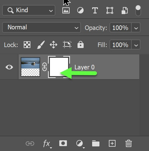 layer mask active in PS